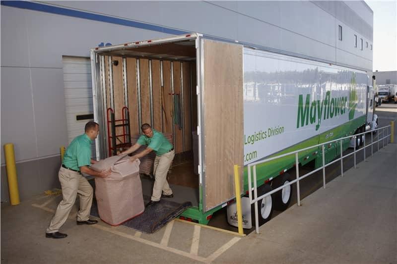 Moving men and Mayflower Truck