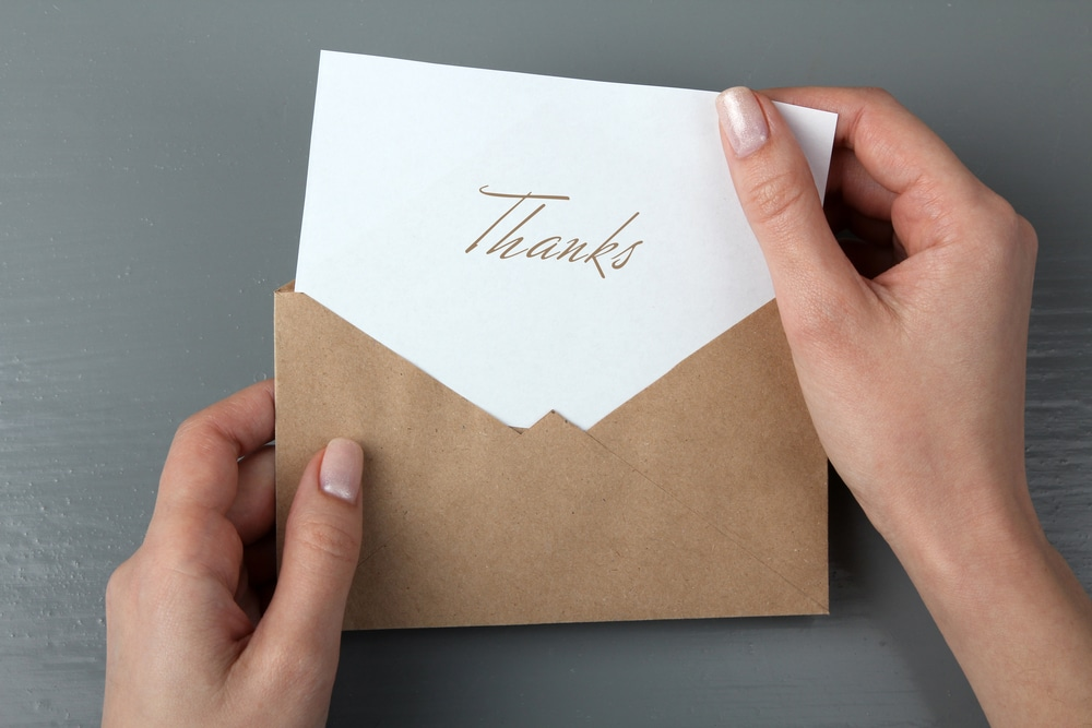 thank you notes after house warming party